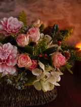 ダリア桜貝とバラ