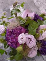 紫陽花とアンスリウム